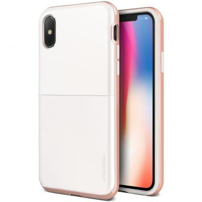 Verus High Pro Shield Skal till Apple iPhone XS / X (Vit - Rose Gold)