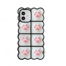 Fidget ToysPuppy Paws Pop it Fidget Skal till iPhone 11 - Vit