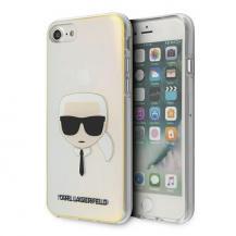 KARL LAGERFELDKarl Lagerfeld Skal iPhone 7/8/SE 2020 Iridescent Karl`s Head - Flerfärgad