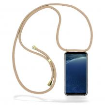 CoveredGear-NecklaceCoveredGear Necklace Case Samsung Galaxy S8 Plus - Beige Cord