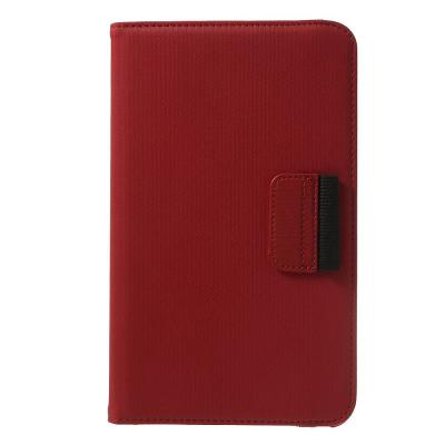 Denim Rotating Plånboksfodral till Samsung Galaxy Tab 4 8.0 (Röd)