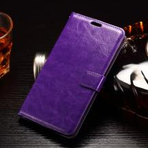A-One BrandCrazy Horse Plånboksfodral till LG G4 Stylus - Lila