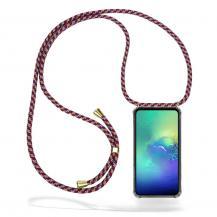 CoveredGear-NecklaceCoveredGear Necklace Case Samsung Galaxy S10e - Red Camo Cord