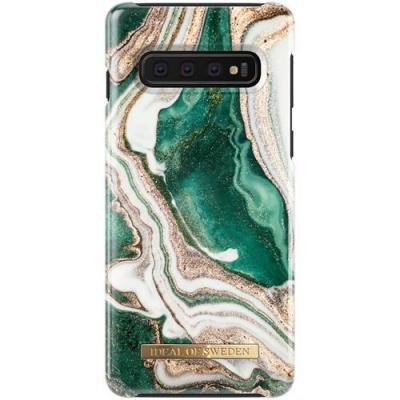 iDeal of Sweden Fashion Case Samsung Galaxy S10 - Golden Jade Marble