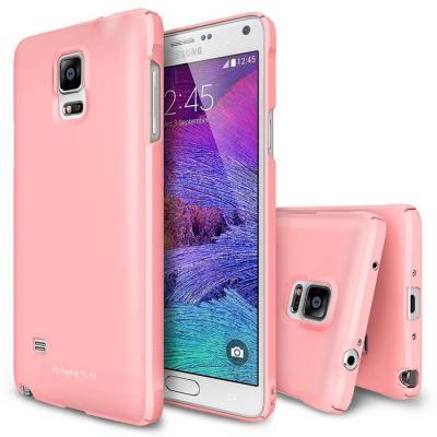 Ringke Slim Dual Coated Skal till Samsung Galaxy Note 4 - Rosa
