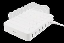 DeltacoDELTACO USB laddningsstation, 6x USB-A portar - Vit