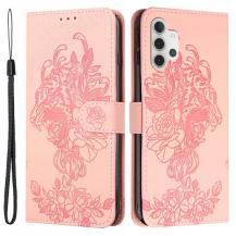 A-One BrandTiger Flower Plånboksfodral till Galaxy A32 5G - Rosa