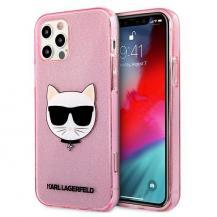 KARL LAGERFELDKarl Lagerfeld Skal iPhone 12 Pro Max Glitter Choupette - Rosa