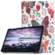 A-One BrandFodral för Samsung Galaxy Tab A 10.5 - Fjärilar & Blommor