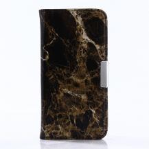 A-One BrandMarble Pattern Plånboksfodral till Samsung Galaxy S8 Plus - Svart