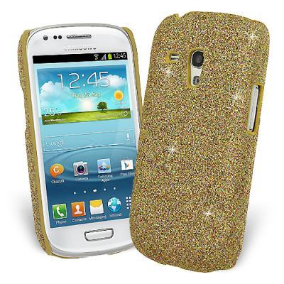 Glitter Skal till Samsung Galaxy S3 mini i8190 + Skärmskydd (Gul)