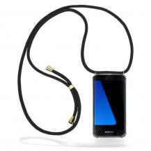 CoveredGear-NecklaceCoveredGear Necklace Case Samsung Galaxy S7 Edge - Black Cord