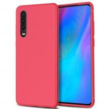 A-One BrandTwill Texture Flexicase Skal till Huawei P30 - Röd