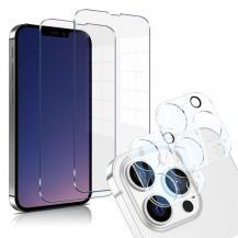 A-One BrandiPhone 13 Pro Max [4-PACK] 2 X Linsskydd Glas + 2 X Härdat Glas