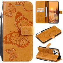 OEMFjärilar Plånboksfodral iPhone 13 Pro - Gul
