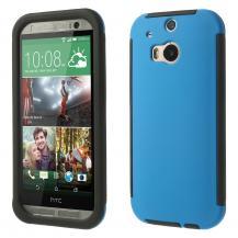 OEMCombo Skal med inbyggd skärmskydd till HTC One M8 (Blå)
