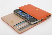 OEMLäder mobilväska och plånbok i ett (Orange)