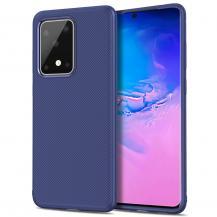 A-One BrandTwill Texture Flexicase Skal till Samsung Galaxy S20 Ultra - Blå