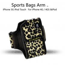 A-One BrandPCMAMA Sportarmband till iPhone 4S/4 / 3G / 3GS / iPOD (LEOPARD)