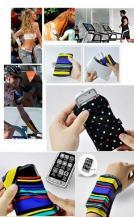 A-One BrandPCMAMA Wrist band till mobil - Medium - (Polka dot Rosa)