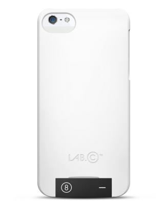 Lab.C Skal med inbyggt USB-minne till Apple iPhone 5/5S/SE - Vit