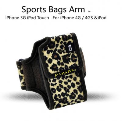 PCMAMA Sportarmband till iPhone 4S/4 / 3G / 3GS / iPOD (LEOPARD)