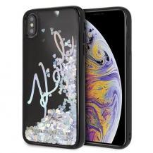 KARL LAGERFELDKarl Lagerfeld skal iPhone Xs Max Signature Glitter Sequins Svar
