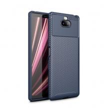 A-One BrandKolfiberskal Drop-Resistant till Sony Xperia 10 Plus - Blå