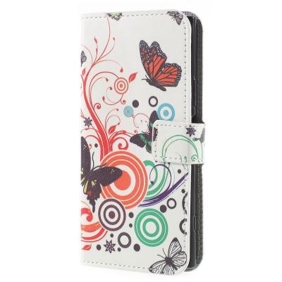 Plånboksfodral till Sony Xperia XZ1 - Colorful Butterflies