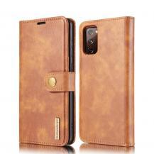 DG.MINGDG.MING Detachable Äkta Läder Plånboksfodral Samsung Galaxy S20 FE - Brun