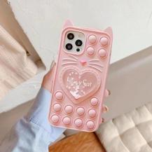 Fidget ToysLove Cat Pop it Fidget Skal iPhone 7/8/SE 2020 - Pink
