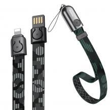 BASEUSBaseus Gold Collar Kabel USB lightning 2.4A 35cm Pop Svart
