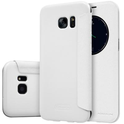 Nillkin Sparkle MobilFodral med fönster till Samsung Galaxy S7 Edge - Vit 552ab92a5d36b