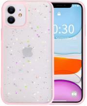 A-One BrandBling Star Glitter Skal till iPhone 12 Mini - Rosa