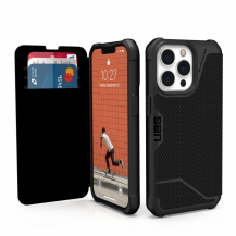 UAGUAG iPhone 13 Pro Metropolis plånboksfodral - Svart