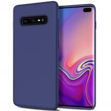 A-One BrandTwill Texture Flexicase Skal till Samsung Galaxy S10P - Blå