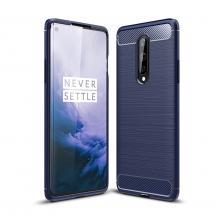 OEMCarbon Fibre Skal OnePlus 8 - Blå