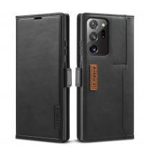 LC.imeekeLC.IMEEKE Retro Leather Card Holder Fodral Till Galaxy Note 20 Ultra - Svart