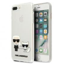 KARL LAGERFELDKarl Lagerfeld Skal iPhone 7/8 Plus Karl & Choupette - Transparent