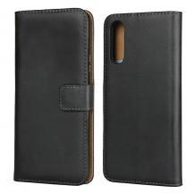 OEMÄkta Läder plånboksfodral Sony Xperia 10 II - Svart