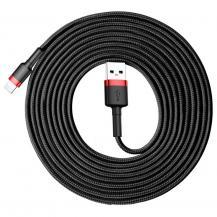 BASEUSBaseus Cafule lightning kabel QC3.0 2A 3M Svart-Röd