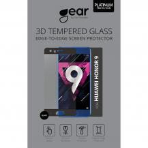 GEARGEAR Härdat 3D Glas till Huawei Honor 9 Edge to Edge - Svart