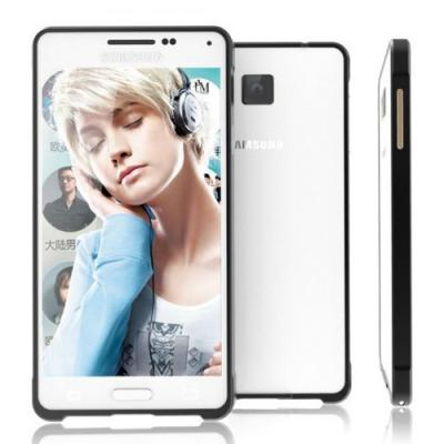 Luphie 0,7mm Aluminium Bumper Skal till Samsung Galaxy Alpha (Svart)