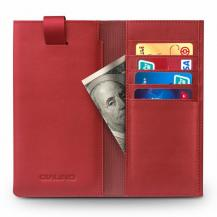 QIALINOQialino Universal Pouch Wallet i äkta läder - Röd
