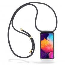 CoveredGear-NecklaceCoveredGear Necklace Case Samsung Galaxy A50 - Grey Cord