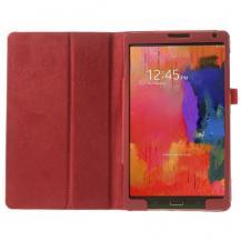 A-One BrandLitchi Book fodral till Samsung Galaxy Tab S 8,4 (Röd)