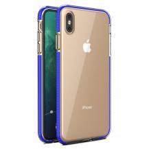 HurtelSpring Case iPhone XS Max skal Mörk Blå