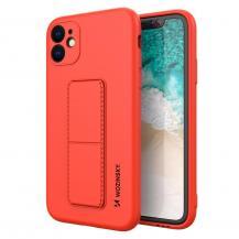 WozinskyWozinsky Kickstand Silicone Skal iPhone 12 Pro Max - Röd