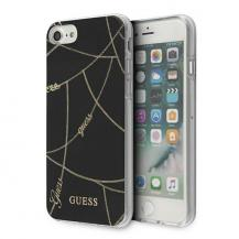 GuessGuess Skal iPhone 7/8 / SE 2020 Gold Chain Collection - Svart