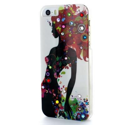 Studded Crystal Skal till Apple iPhone 5/5S/SE (Spring Beauty)